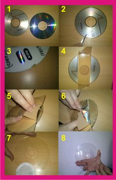 cd crafts for kids . cd crafts for kids old cds Cd Diy, Diy Décoration, Old Cd Crafts, Diy Home Crafts, Arts And Crafts, Crafts With Cds, Recycled Cds, Recycled Crafts, Diy Para A Casa