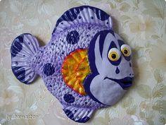 Картина панно рисунок Поделка изделие Лепка рыба Мим Тесто соленое фото 1