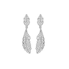 Mimi So Phoenix Pave Diamond Earrings 18kt White Gold