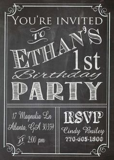 Custom wedding invitation designed by the ups store clivewaukee shabby chic vintage chalkboard sign invitation birthday party bridal or baby shower wedding digital solutioingenieria Choice Image
