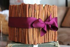 cinnamon stick fall tissue box