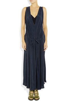 See by Chloé | Brushed matte-satin maxi dress | NET-A-PORTER.COM