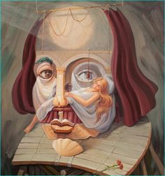 35 Mind-Blowing Illusion Paintings by Oleg Shuplyak - Find Hidden Figures Optical Illusion Paintings, Art Optical, Optical Illusions, Art And Illustration, Illusion Kunst, Illusion Art, Oleg Shuplyak, Street Art, Hidden Images