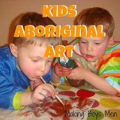 Kids Aboriginal art (Australia Theme)