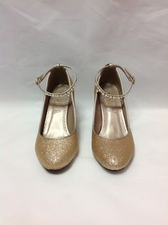 Glitter Pearl High Heel Shoes in Gold from Axes Femme - Lolita Desu