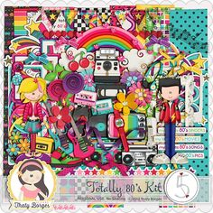 Digital Scrapbook Kit, After Five Designs :: Full Kits :: Totally 80's Kit by Thaty Borges