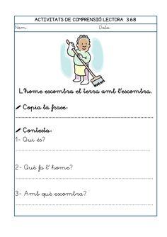 Dori dos 1112_mt005_r1_comprensio_lectora_3 Lectures, Writing, Irene, Valencia, School, Audio, Texts, Spanish, Reading Comprehension