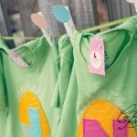Easter Bunny Chevron  T Shirt Clothing Party Favor Idea