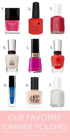 the best summer nail polish shades