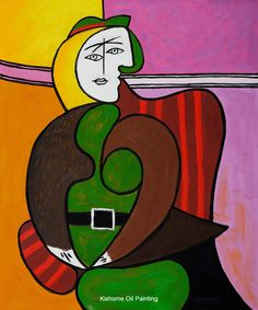 The Red Armchair by famous Picasso abstract oil paintings Wall ...