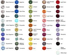 GemstonesBIRTHSTONES  January = Garnet,    February = Amethyst,    March = Aquamarine,    April = Diamond,    May = Emerald,    June = Andalucite,    July = Ruby,    August = Peridot,    September = Sapphire,    October = Pink Tourmaline,    November = Topaz,    December = Blue Zircon,