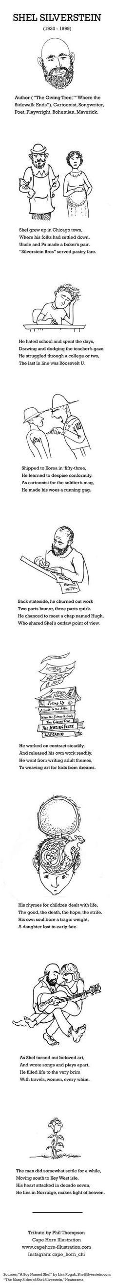 Shel Silverstein illustrated biography