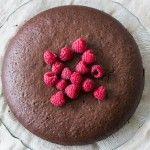 Lactose- en glutenvrije chocoladetaart