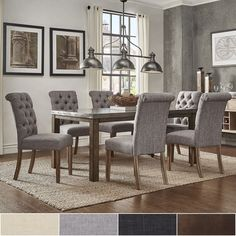 Cassidy Stainless Steel Top Rectangle Dining Table 7-Piece Set by Signal Hills ([7PC]-