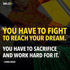 Messi has it right, it's all about the sacrifice and hard work. Bettering Myself, To Reach, Lionel Messi, Train Hard, Monday Motivation, Strength Training, Work Hard, Dreaming Of You, Things I Want