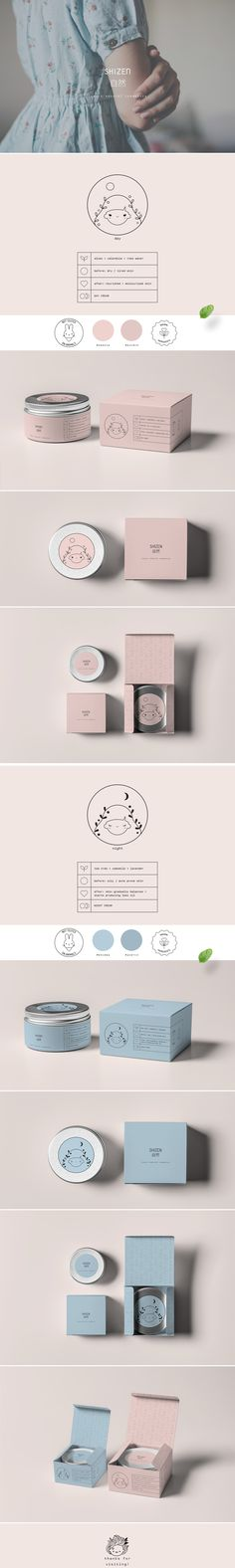 """SHIZEN - luxury natural cosmetic brand inspired by the Japanese word """"shizen"""" means nature. Brand logo represents mother nature in day and night. Recipe of cosmetics is based on natural components like herbs, flowers and fruits extracts. SHIZEN cares abou…"""