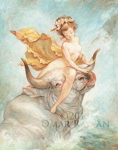 Omar Rayyan - Rape of Europa. Tags: zeus, jupiter, transformations, europa, women seduced by zeus,