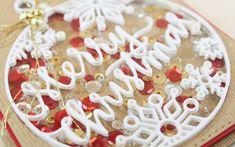 Merry Christmas Shaker Card - Inlaid Dimensional Die Cuts
