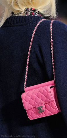 Chanel at Paris Fall 2013 (Details) Pink Chanel Bag 9ceeff9c699f0