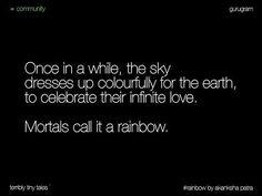 Akanksha Patra from Gurugram writes a #Community tale on #rainbow #Community is…