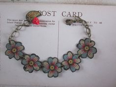 Tin Bracelet Five Little Flowers Tin for the Ten by TheMadCutter, $34.00