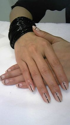nails single stripe down the middle or across design // HAATI CHAI