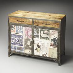 Artifacts Vagabond Industrial Chic Console Cabinet
