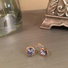 Amazing Brighton Lavender Gold Stone Earrings Like new Brighton Jewelry Earrings