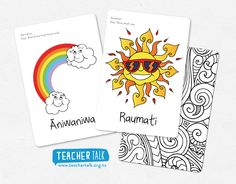 Visual Teaching Aids // The weather and Seasons Teaching Aids, Teaching Resources, Maori Designs, Summer Set, Early Childhood Education, Natural World, Weather, Rainbow, Seasons