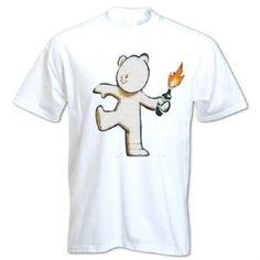Banksy Street art Graffiti Stencil Mild Mild West t shirt http://www.bangtidyclothing.co.uk/banksy-teddy-bear-bottle-thrower-unisex-t-shirt-2270-p.asp