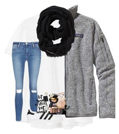"""""""i want to travel anyone wanna pay for me?"""" by lindsaygreys ❤ liked on Polyvore featuring MANGO, Frame, Patagonia, Old Navy, adidas Originals, Smashbox, Charlotte Russe, Yves Saint Laurent, Kate Spade and Eternally Haute"""