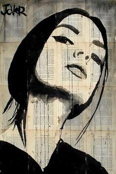 "Saatchi Online Artist Loui Jover; Drawing, ""the poets wife"" #art"