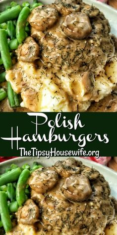 Polish Hamburgers A classic polish recipe that makes a great weeknight or special occasion dinner. Ground pork, onions and a rich gravy. The ultimate comfort food. Healthy Recipes, Healthy Meals, Cooking Recipes, Polish Food Recipes, Cooking 101, All Food Recipes, Ethnic Food Recipes, German Food Recipes, Best Recipes For Dinner