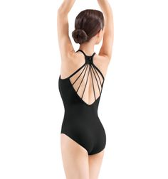 Adult Camisole Lattice Racer Back Leotard - Style Number: M8017LM