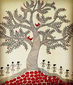 Buy Tree of life Handmade Painting by Madhavi Sandur. Code:ART_571_19076 - Paintings for Sale online in India.