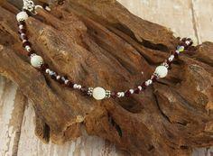 Mother of Pearl Crystal Beaded Anklet, red anklet, mother of pearl anklet, ruby anklet, custom anklets by SWCreations Coin Jewelry, Beaded Jewelry, Jewelry Bracelets, Handmade Jewelry, Anklet Jewelry, Artisan Jewelry, Necklaces, Pearl Beads, Crystal Beads