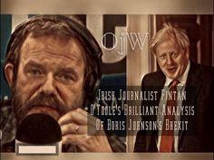 Irish Journalist Fintan O'Toole's Brilliant Analysis Of Boris Johnson's Brexit Deal. Leading Irish journalist Fintan O'Toole said Boris Johnson's Brexit deal. Mr Johnson, Boris Johnson, Uk Politics, Irish Sea, Youtube, Things To Sell, Youtubers, Youtube Movies