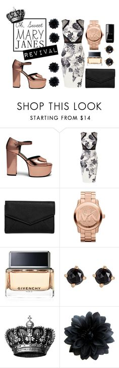 """""""Mary Jane Revival 2016"""" by tayscutts ❤ liked on Polyvore featuring Mulberry, Karen Millen, LULUS, Michael Kors, Givenchy, Irene Neuwirth, Chanel, modern and maryjanes"""