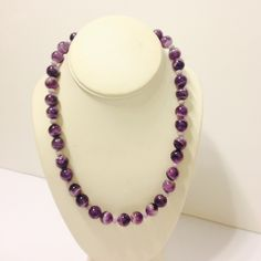 amethyst and crystal necklace  Handmade by me and one of my favorites!  Genuine amathyst and purple crystal; pewter and silver plate fixtures - STUNNING POP OF PURPLE! gabriella designs  Jewelry Necklaces
