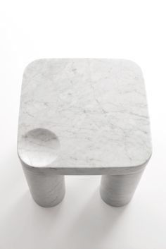 """""""Poodle"""" by Naoto Fukasawa 2011 Low table in White Carrara marble, matt polished finish L 37 x W 37 x H 37"""