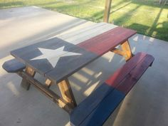Texas Flag Picnic Table