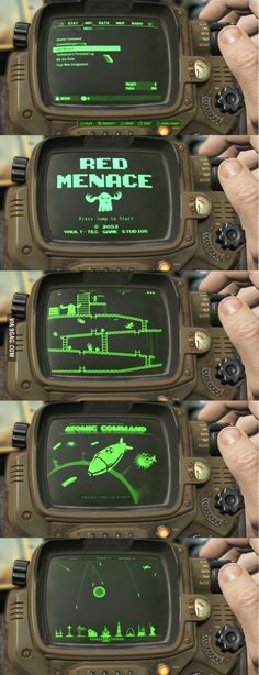 You can play old games in the pip boy at fallout 4