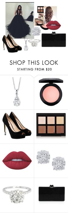 """Prom"" by mads-p ❤ liked on Polyvore featuring MAC Cosmetics, GUESS, Anastasia Beverly Hills, Lime Crime, Effy Jewelry and Edie Parker"