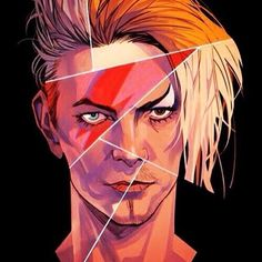 """pixmilk: """" …and tribute to David Bowie. Thank you for the inspiration, sir! David Bowie Tattoo, David Bowie Art, David Bowie Eyes, David Bowie Poster, David Bowie Labyrinth, David Bowie Goblin King, Illustrator, Aladdin Sane, Music Tattoos"""