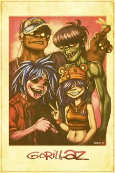 Gorillaz by EddieHolly.deviantart.com on @deviantART