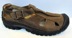 KEEN Men's 'Portland' Brown Leather Fisherman Sandal Size 45/US 11.5 #KEEN #Fisherman