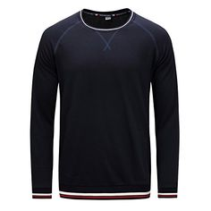 2833597890db Kuson Homme Sweat-shirt Sport Casual Col Rond à Manches Longues Pulls   Amazon.