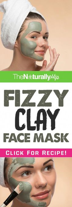 "Here's how to make your very own Fizzy Clay Mask INGREDIENTS 1 tablespoon Bentonite Clay 1 teaspoon Baking Soda 2 tablespoons Apple Cider Vinegar PREPARATION 1. Mix all ingredients. There should be a ""bubbling"" effect. 3. Wait 5 minutes for the texture of the clay to become thicker 4. Apply to face 5. Keep […] #HomemadeMoisturizer Clay Face Mask, Clay Masks, Face Masks, Homemade Moisturizer, Face Scrub Homemade, Face Mask For Spots, Sugar Scrub For Face, Cellulite Scrub, Coconut Oil For Face"