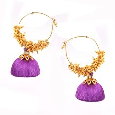 Silk Thread - Jhumka   #Wedtree #JewelryGifts #OnlineWeddingShopping