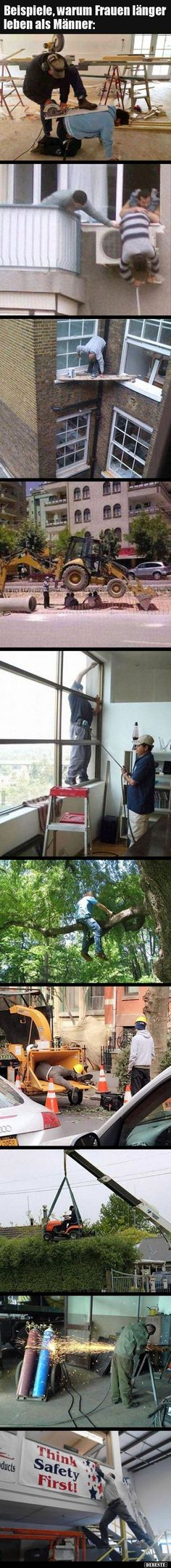- Examples of why women live longer than men . , Examples of why women live longer than men . Gamer Humor, Man Humor, Nature Quotes Adventure, Funny Memes, Jokes, Norway Travel, Live Long, Funny Posts, Funny Cute